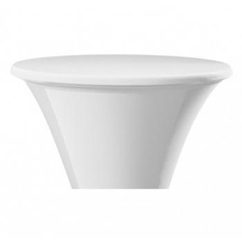 Elastický potah ACCRA na desku stolu Ø 70cm, bílý