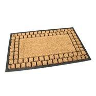 Kokosová čistící venkovní vstupní rohož FLOMA Rectangle - Squares - délka 45 cm, šířka 75 cm a výška 2,2 cm