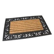 Kokosová čistící venkovní vstupní rohož FLOMA Stripes - Deco - délka 45 cm, šířka 75 cm a výška 2,1 cm