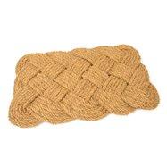 Kokosová venkovní čistící vstupní rohož FLOMA Jumbo Rectangle - délka 45 cm, šířka 75 cm a výška 3,5 cm