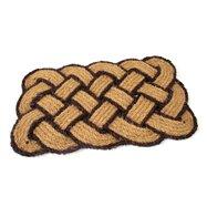 Kokosová venkovní čistící vstupní rohož FLOMA Jumbo Rectangle Brown - délka 45 cm, šířka 75 cm a výška 3,5 cm
