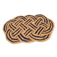 Kokosová venkovní čistící vstupní rohož FLOMA Jumbo Oval Blue - délka 45 cm, šířka 75 cm a výška 3,5 cm