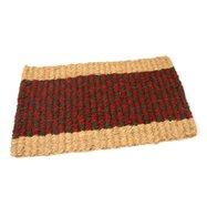 Kokosová venkovní čistící vstupní rohož FLOMA Colored Stripe - délka 35 cm, šířka 60 cm a výška 2,5 cm