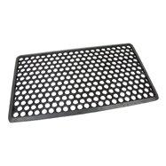 Gumová venkovní čistící vstupní rohož FLOMA Hexagon - délka 40 cm, šířka 70 cm a výška 1,2 cm