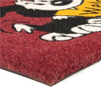 Kokosová venkovní čistící vstupní rohož FLOMA Welcome - Dog - délka 45 cm, šířka 75 cm a výška 1,7 cm