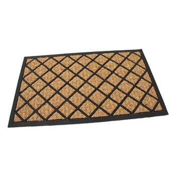 Kokosová čistící venkovní vstupní rohož FLOMA Rectangle - Rhombus - délka 45 cm, šířka 75 cm a výška 0,8 cm