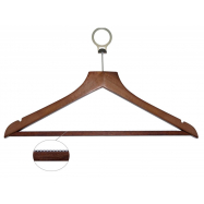 Ramínko dřevěné BASIC s protiskluznou hrazdou, nezcizitelné, tmavé dřevo
