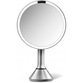 Kosmetické zrcátko Simplehuman Sensor Touch, DUAL LED osvětlení, 5x, dobíjecí, matná nerez