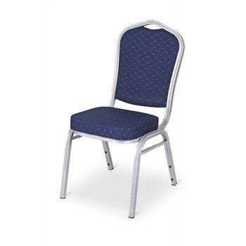 Banketová ocelová židle MUSIC BLUES, modrá