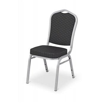 Banketová ocelová židle MUSIC SOUL, černá