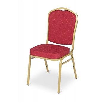 Banketová ocelová židle EXPERT ES100, červená/zlatá