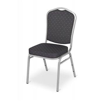 Banketová ocelová židle EXPERT ES180, černá/stříbrná