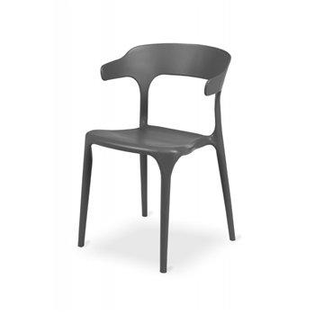 Plastová židle SIESTA, šedá
