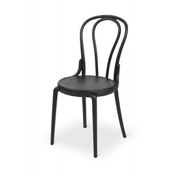 Plastová židle BISTRO MONET, černá
