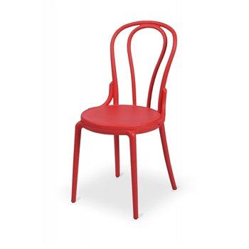 Plastová židle BISTRO MONET, červená