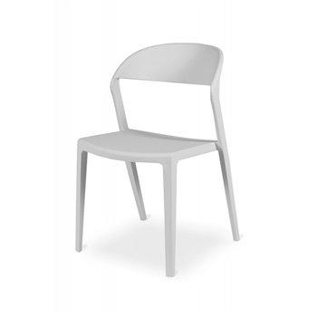 Plastová židle BISTRO TOKYO, bílá