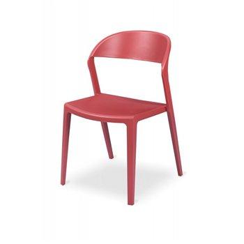 Plastová židle BISTRO TOKYO, červená