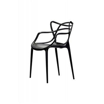 Plastová židle BISTRO VEGAS, černá