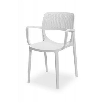 Plastová venkovní židle NICOLA, bílá
