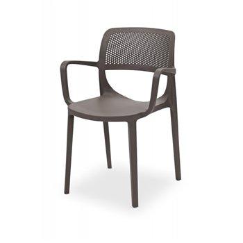 Plastová venkovní židle NICOLA, pískově šedá