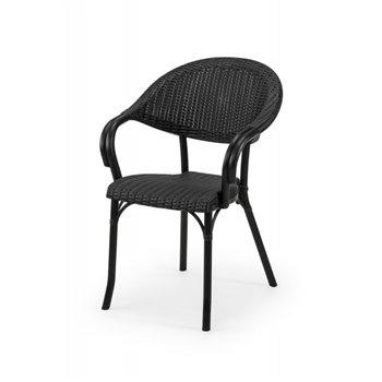 Plastová venkovní židle MARCO, antracitová