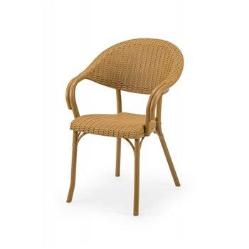 Plastová venkovní židle MARCO, béžová