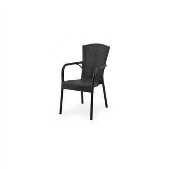 Plastová venkovní židle ANDREA, antracitová