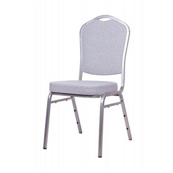 Banketová židle ALICANTE ORIGINALS STF930, světle šedá / stříbrná