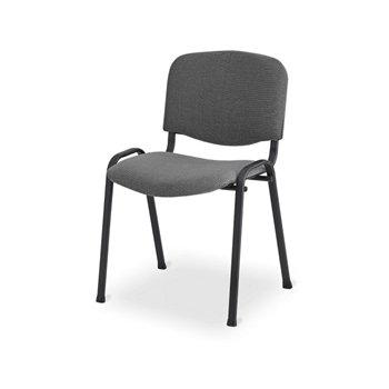Konferenční ocelová židle ISO 24H BL, šedá / černá