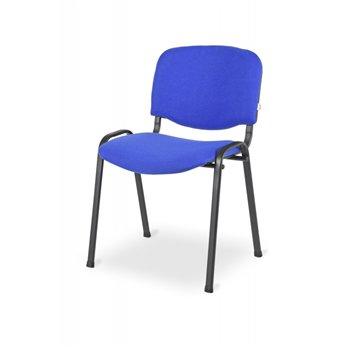 Konferenční ocelová židle ISO 24H BL, modrá / černá