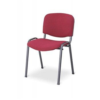 Konferenční ocelová židle ISO 24H BL, červená / černá