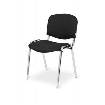 Konferenční ocelová židle ISO 24H CR, černá / chrom