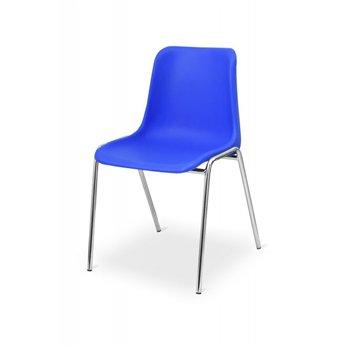 Konferenční židle MAXI CR, modrá / chrom