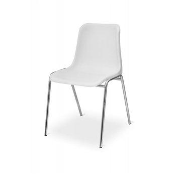 Konferenční židle MAXI CR, bílá / chrom