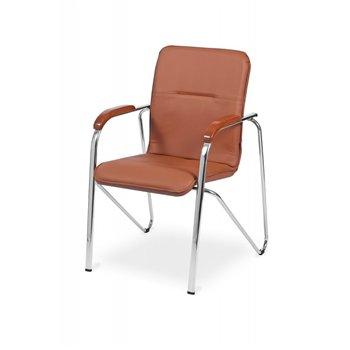 Konferenční židle SAMBA CR NA2252, ekokůže, hnědá / chrom