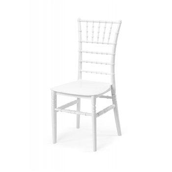 Plastová svatební židle TIFFANY, bílá