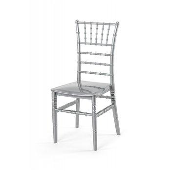 Plastová svatební židle TIFFANY, stříbrná
