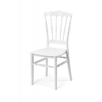 Plastová svatební židle NAPOLEON, bílá