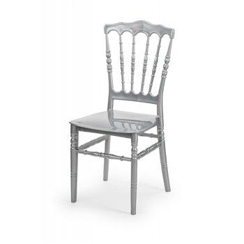 Plastová svatební židle NAPOLEON, stříbrná