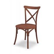 Plastová svatební židle FIORINI, hnědá