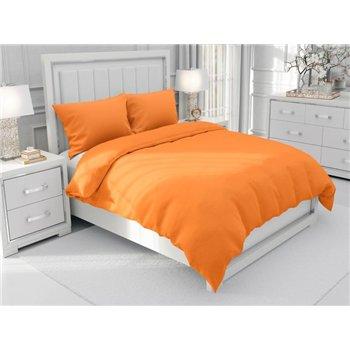 Jednobarevné bavlněné ložní povlečení SUZY vzor BJ-81 Oranžové - 140 x 220 cm