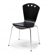 Jídelní židle Orlando, černá, chrom