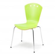 Jídelní židle Orlando, zelená/chrom