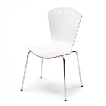 Jídelní židle Orlando, bílá/chrom