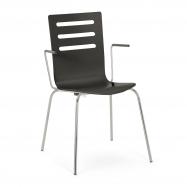 Jídelní židle Milla, s područkami, černá
