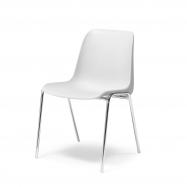 Plastová židle Sierra, bílá