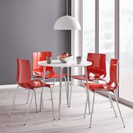 Jídelní židle Juno, červená