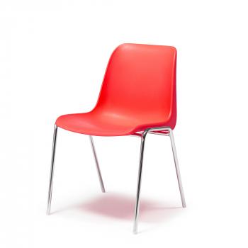 Plastová židle Sierra, červená