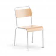 Jídelní židle Frisco, bílý rám, HPL buk