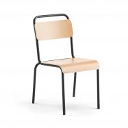 Jídelní židle Frisco, černý rám, HPL buk